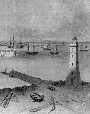 The Williamstown Jetty and Lighthouse circa 1853