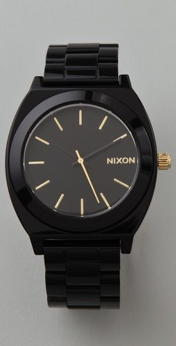sexy: Time Teller, Gold Watch, Nixon Watches, Black Watches, Big Watches, Fashion Inspiration, Nixon Time, Acetate Watch