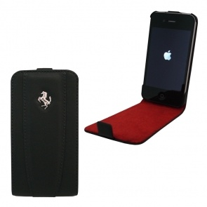 HUSA FERRARI FEFLIP4B FLAP BLACK PT. IPHONE4