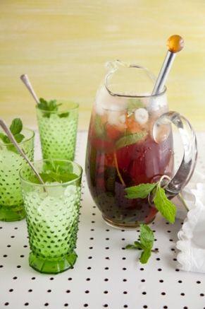 Minted Ice Tea: Recipe, Glasses, Sweet Teas, Mint Ice Teas, Iced Tea, Drinks, Deen Mint, Kentucky Derby, Paula Deen