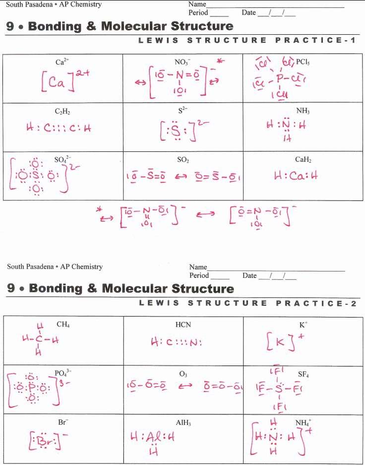 50 Lewis Structure Practice Worksheet in 2020   Chemistry ...
