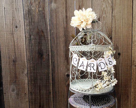 Wedding Birdcage Card Holder Wedding Card by PapercaseDesign
