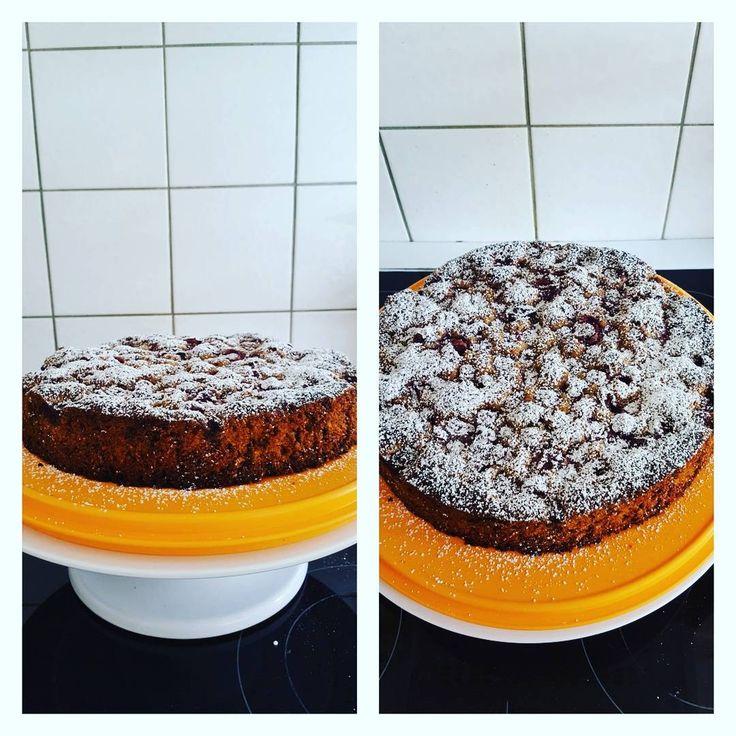 Glutenfreier Kirsch Kuchen mit Schokoladen stückchen