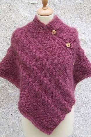 comment tricoter un poncho pour adulte
