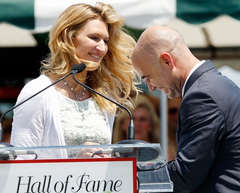 andre agassi & steffi graff... best tennis players, a cute couple