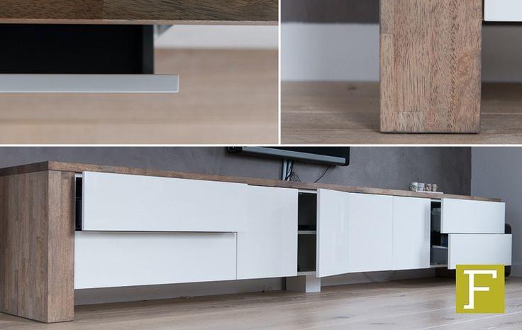 Tv meubel dressoir maatwerk design meubelmaker fijn for Sideboard 3 meter lang