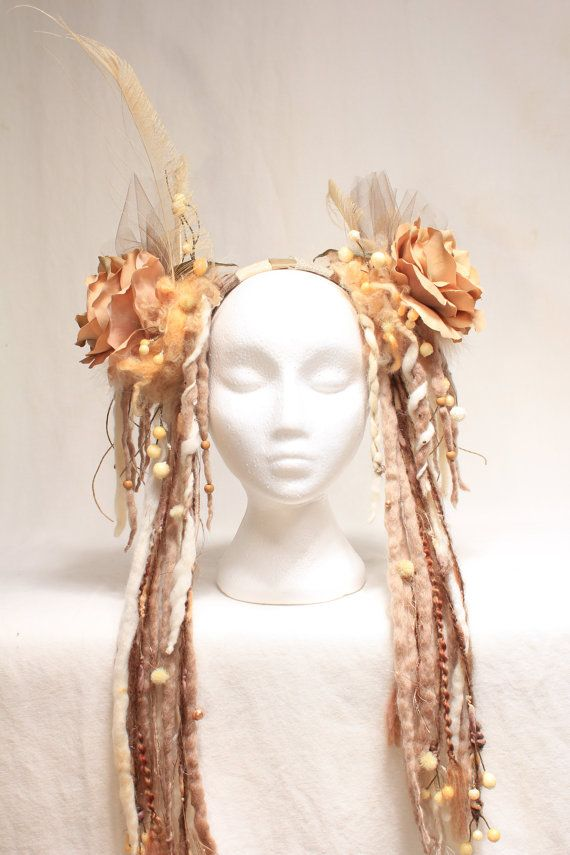 Hey, I found this really awesome Etsy listing at http://www.etsy.com/listing/157606606/dready-flower-headdress