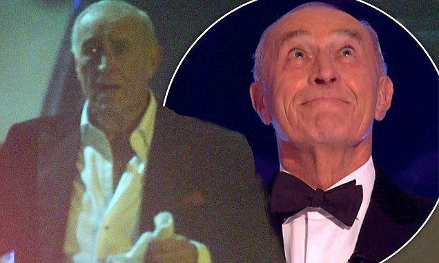 Len Goodman appears tearful as he clutches a handkerchief