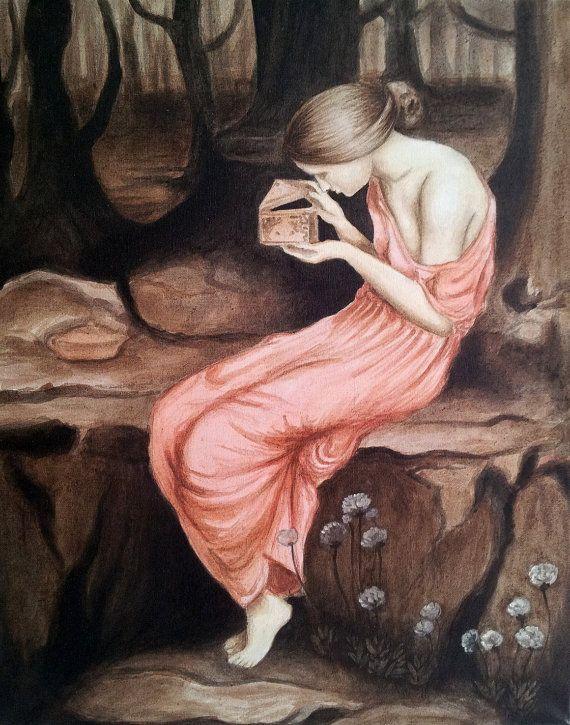 Pandora's Box Greek mythology handmade by ArtFromLiterature ...