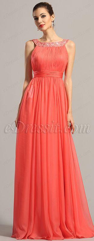 Elegant beaded halter neck, formal dress! #edressit #dress #gown #formal #2015