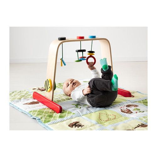 LEKA Baby gym IKEA Reaching out for toys stimulates a baby's development of hand-eye coordination.