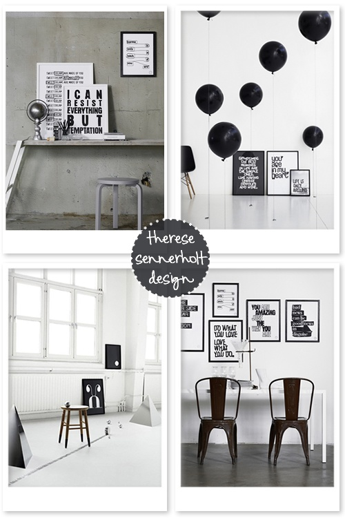 Typographic prints by Therese Sennerhold Designs.Sennerhold Design, Hey Girls, Typographic Prints