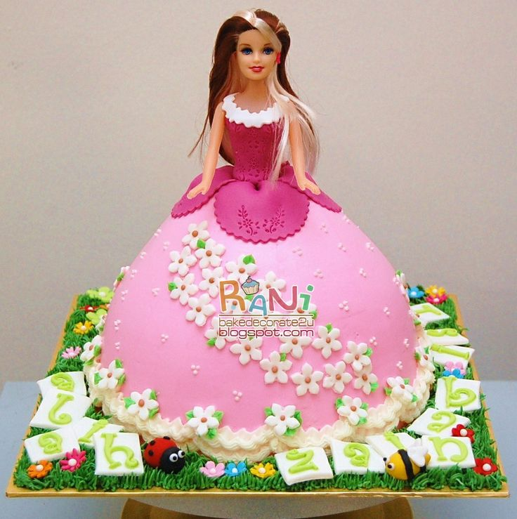 Best Cakes Images On Pinterest Barbie Cake Barbie Party And - Birthday cake doll designs