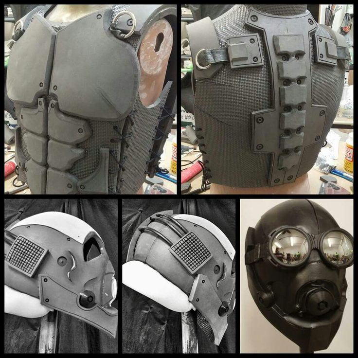 Original EVA Tactical Vest & Helmet by Russ Adams.  Currently under construction...see more unfold at www.facebook.com/escape.design Or www.escapedesignfx.com #eva #cosplay #comicon #russadams #syfy #foam #fabrication #tactical #helmet #vest