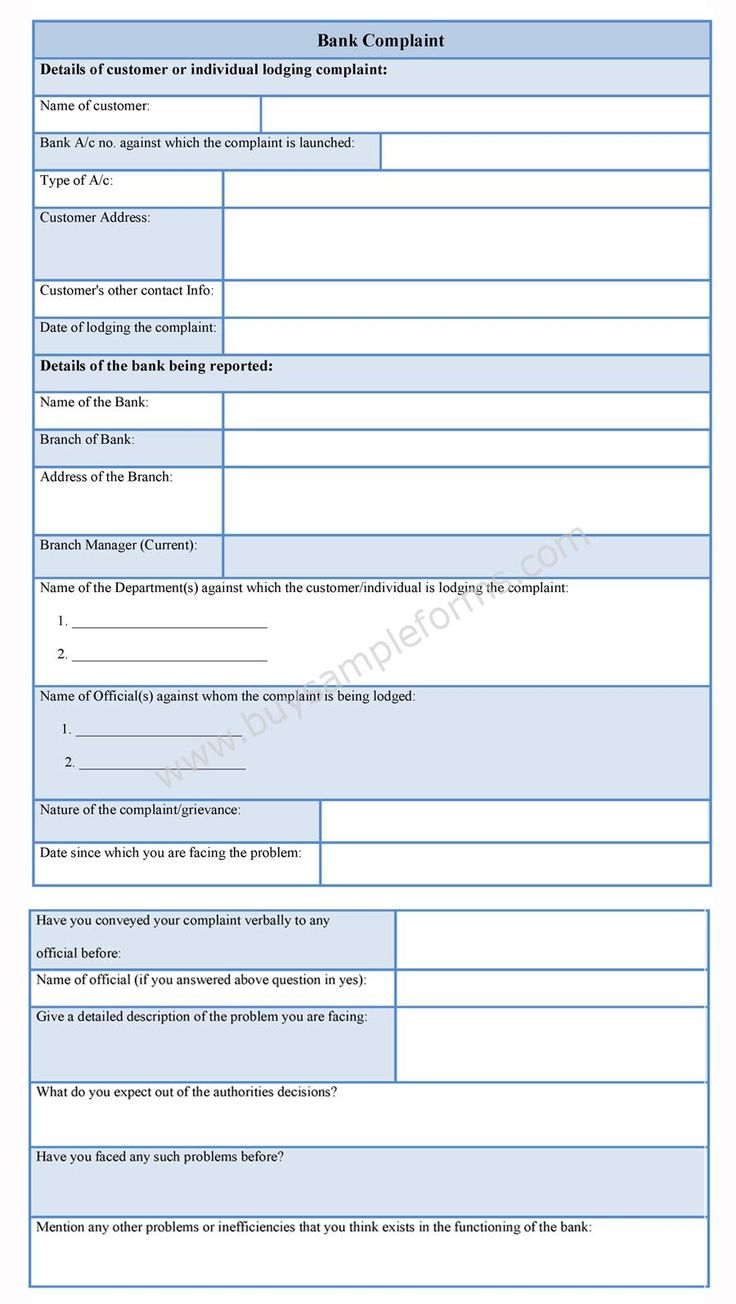 Pin On Sample Complaint Form Employee complaint form template word