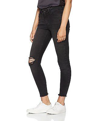 W28/L30 (Manufacturer size: 28), Blue (Black), Vero Moda Women's Vmseven Nw Ss A