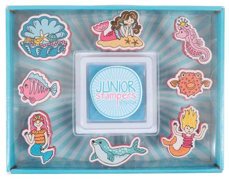 Tiger Tribe Junior Stampers- Mermaids Lovely set of ocean stamps, looks like hours of fun. #limetreekids