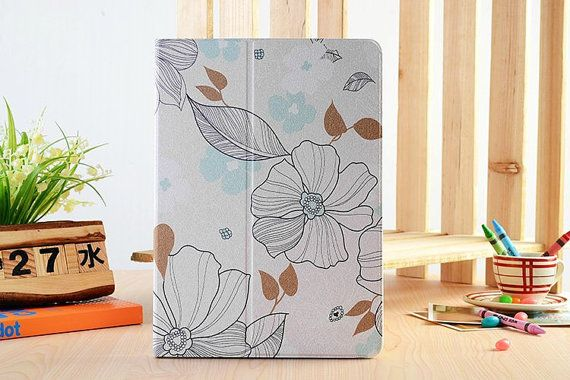 Light Purple Foral Fold Lether Tablet Case For by SereneLifeDesign, $29.99