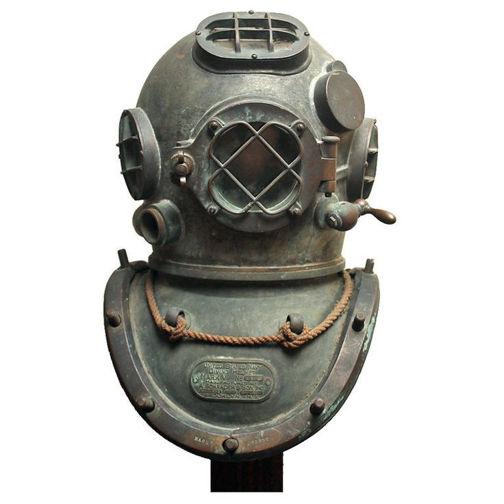 US Navy Diving Helmet Mark V | From a unique collection of antique and modern nautical objects at https://www.1stdibs.com/furniture/more-furniture-collectibles/nautical-objects/