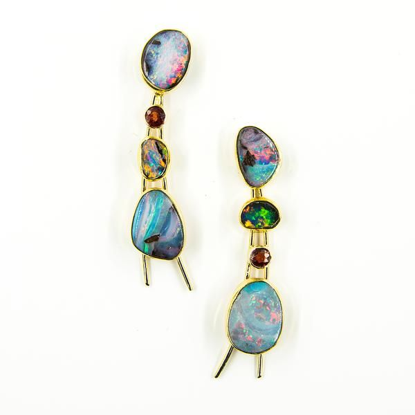 Jennifer Kalled Boulder Opal Earrings Opal Earrings Earrings