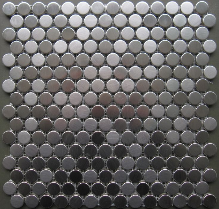 Contemporary Products Round Stainless Steel Tile