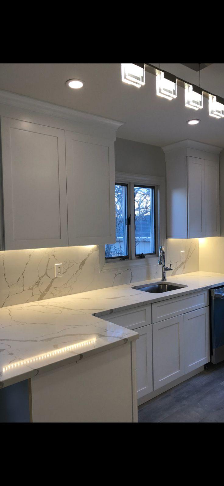 Kitchen Renovation Featuring Fabuwood Galaxy Frost