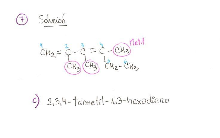 Ejercicio resuelto 07, formulación orgánica de Alquenos. Ejercicio de múltiple opción.