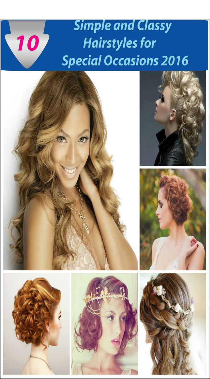 Simple Hairstyle For Occasion : Best images about haar en visagie on