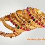 Ruby Antique Bangles from Anmol