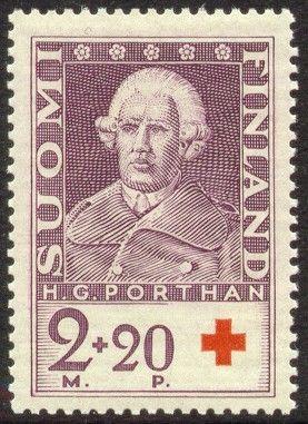 1935/Posti- ja telelaitos - V.1766-1778 Porthanilta ilmestyi 5-osainen väitöskirja De Poesi Fennica(Tutkimus suomal.runoudesta),joka perust.hänen keräys- ja tutkimusmatkoill.muistiin merkitsem.kansanrunoesityksiin.Porthanin tutkimus oli uraauurtava myös uudenaik.metodinsa vuoksi.Runonäytteitä esittämällä hän selvitteli ja eritteli kansanrunoutemme muotoja ja lainalaisuuksia.Teoksessa onnistutt.ensimm.kerran selitt.mm.kalevalainen runomitta.
