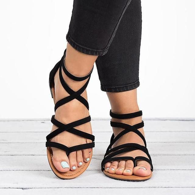 Factory Direct Women Sandals Gladiator Sandals For Beach Flat Summ In 2020 Womens Summer Shoes Womens Sandals Women Shoes