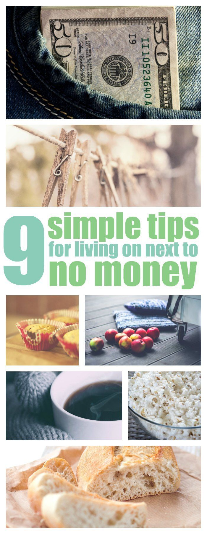 Money saving tips for when you're living on next to nothing.