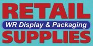 WR Displays & Packaging for retail supplies such as shelving, slatwall, pegboard, display cases, tins, boxes, bags, wrapping, mannequins, stanchions, etc.  (Winnipeg & Calgary)