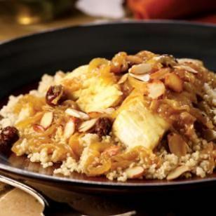 Arabic Food Recipes: Fish Couscous with Onion T'faya Recipe