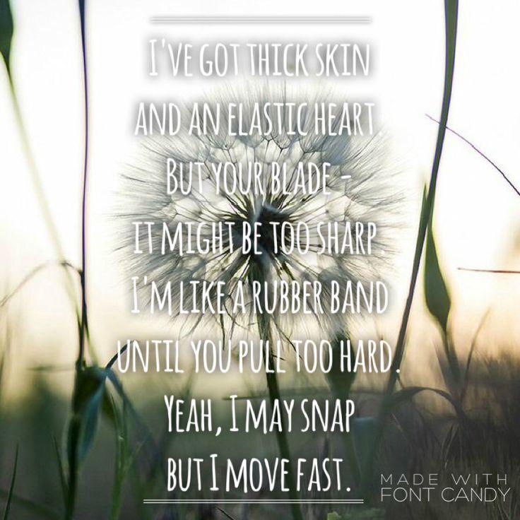 35 best elastic heart lyrics images on Pinterest   Elastic heart ...