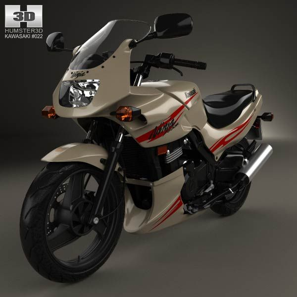 Kawasaki Ninja 500R 2007 3d model from humster3d.com. Price: $75