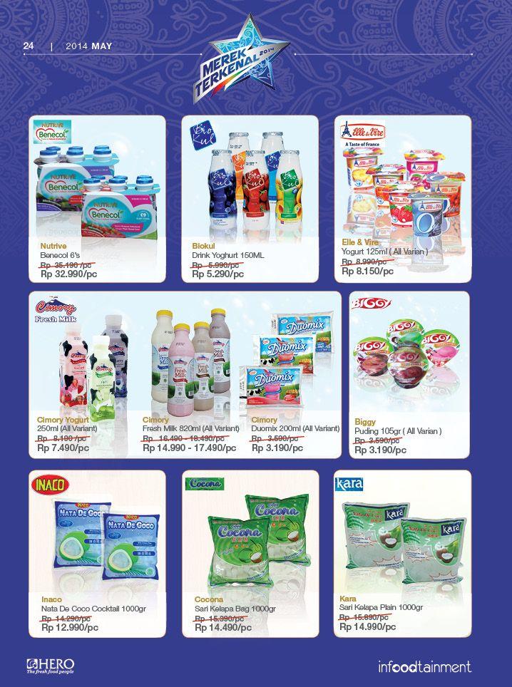 Dapatkan berbagai Yoghurt dan aneka makanan ringan lainnya hanya di Hero Supermarket. Solusi tepat berbelanja.