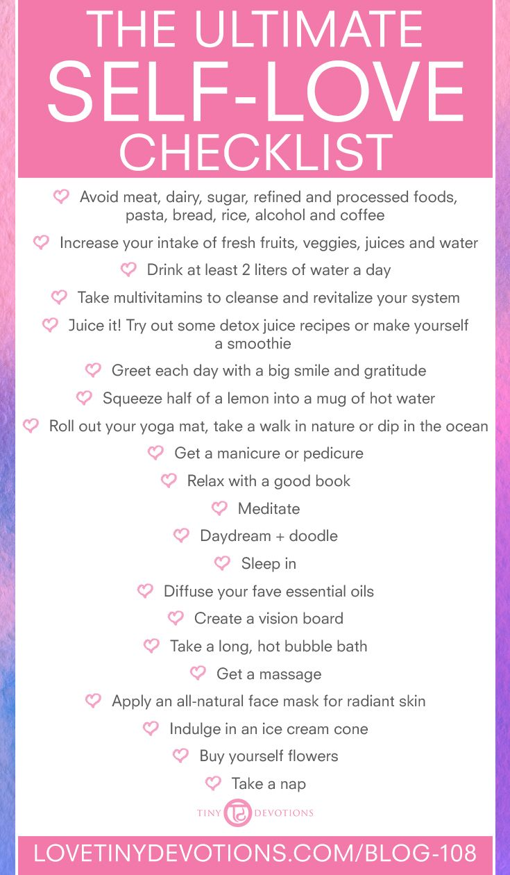 """The Ultimate Self-Love Checklist 