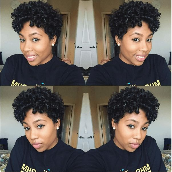 Short Natural Hair With Defined Curls  IG:@apriltiara  #naturalhairmag