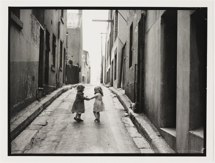 Children in Sydney slums, mainly Surry Hills, Woolloomooloo, Redfern, 1949 by Ted Hood | Flickr - Photo Sharing!