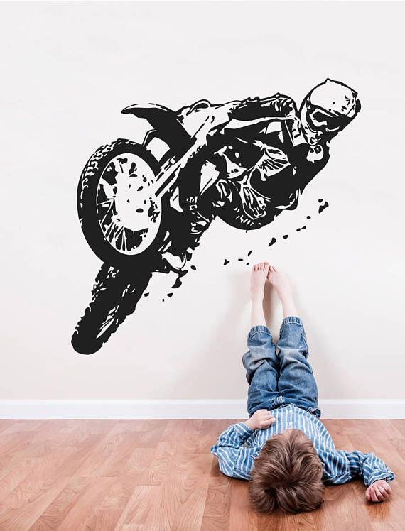 Lower Price with Wall Decal Sport Motorcycle Racing Model Motor Bike Mural Vinyl Decal Back To Search Resultshome & Garden