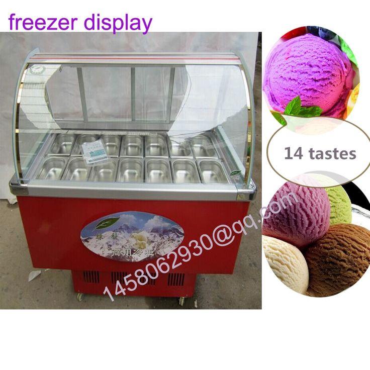Profissional de gelo comercial armário de exposição congelador de sorvete pequeno congelador