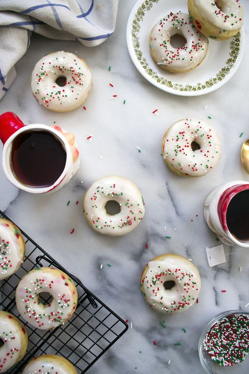 Funfetti Holiday Donuts from Unusually Lovely