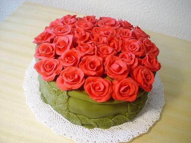 Bolos de Aniversário Decorados rosas