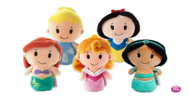 Saw these at the Hallmark store today. So cute!  Wishing my girls were little again. Get the Disney Princess itty bittys® dolls. They have all the Disney characters.