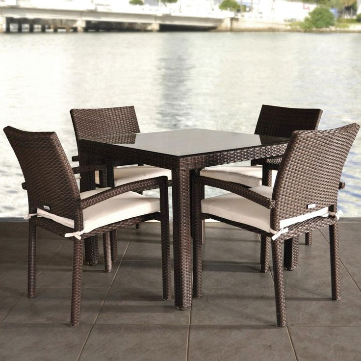 square wicker outdoor dining table and chairs rattan set patio sets