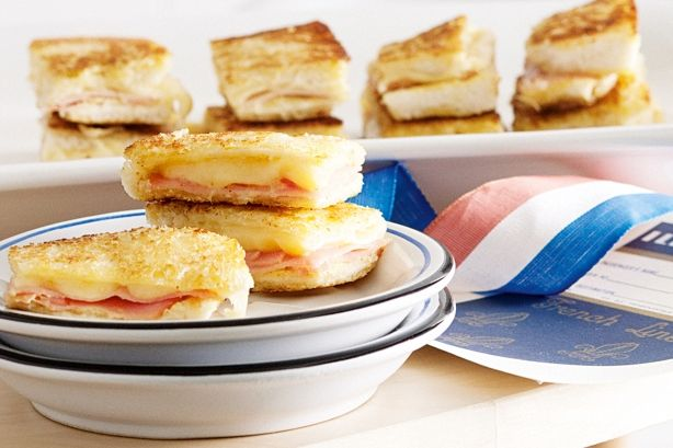 Serve mini versions of this french ham and cheese toasties for something fancy even the kids will enjoy.