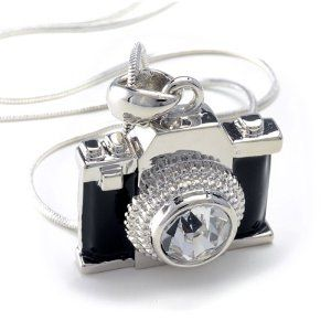 Cute Camera Necklace - a fun gift for any female photographer.
