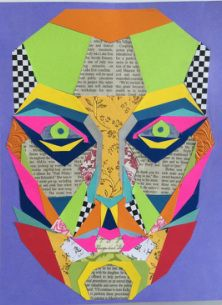 integrating art and maths. MAsk of devine proportion collage
