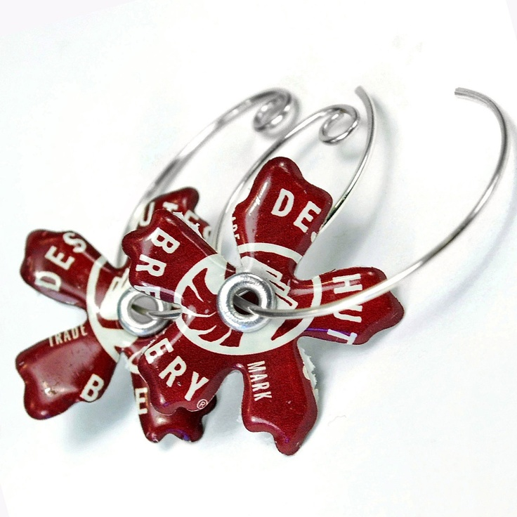 Deschutes Brewery Recycled Jewelry Bottle Cap Earrings $17